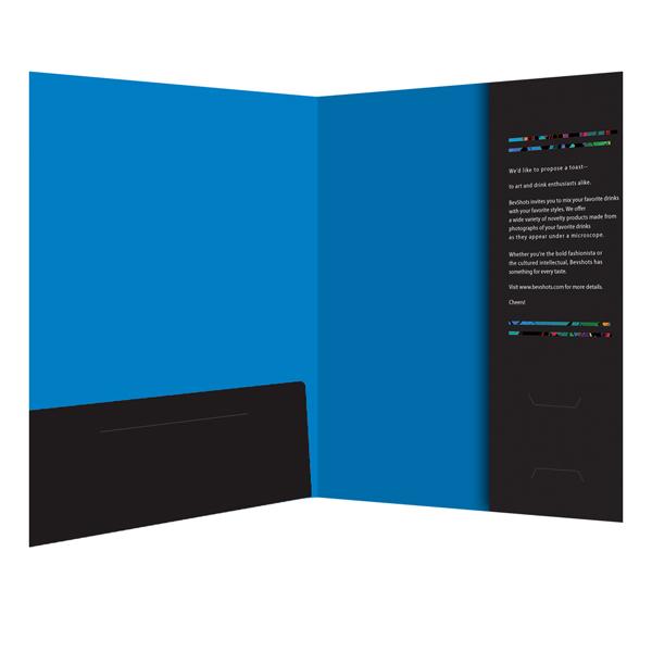 Custom Printed Vertical & Left Pocket Presentation Folder
