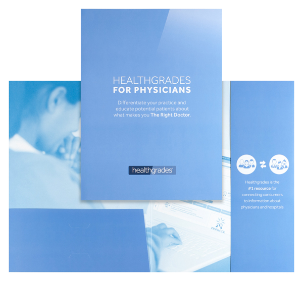 Healthgrades (Stack of Two Front and Inside View)