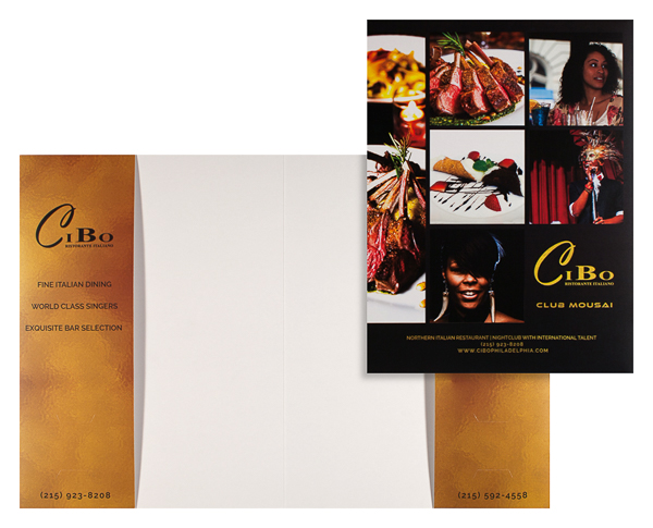 Cibo Ristorante Italiano & Club Mousai (Stack of Two Front and Inside View)
