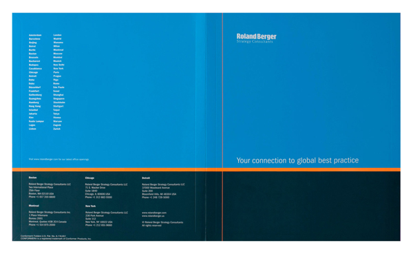 Roland Berger Strategy Consultants (Front and Back Flat View)