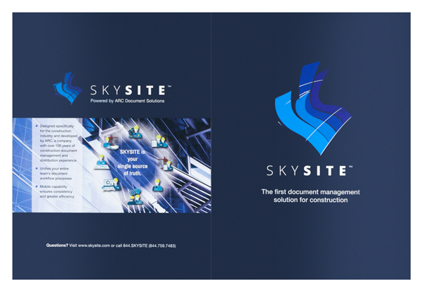 ARC Document Solutions SKYSITE (Front and Back Flat View)
