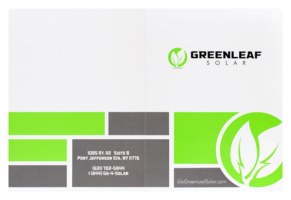 Greenleaf Solar (Front and Back Flat View)