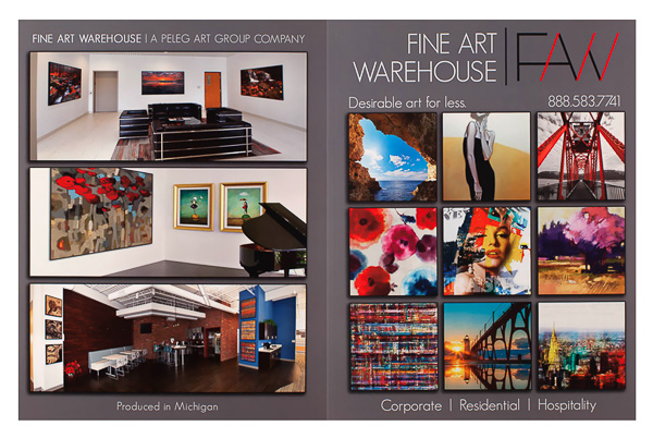 Fine Art Warehouse (Front and Back Flat View)