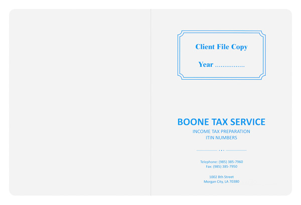 Boone Tax Service (Back Flat View)