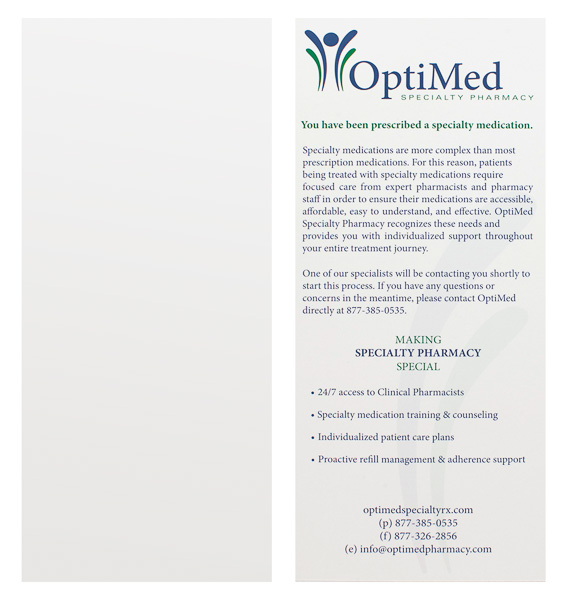 OptiMed Specialty Pharmacy (Stack of Two Front and Back View)