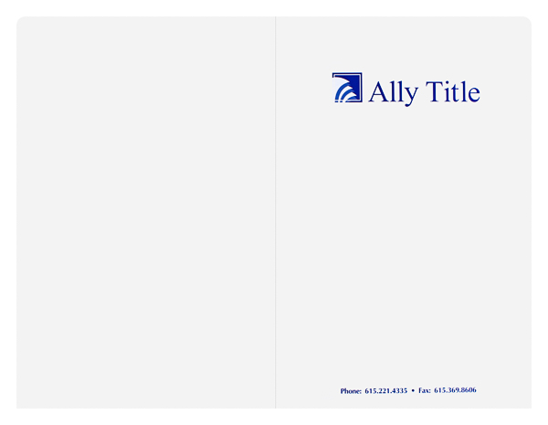 Ally Title (Front and Back Flat View)