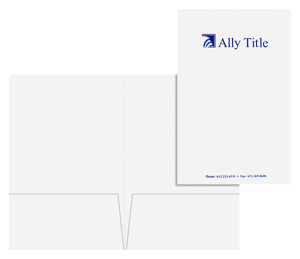 Ally Title (Stack of Two Front and Inside View)
