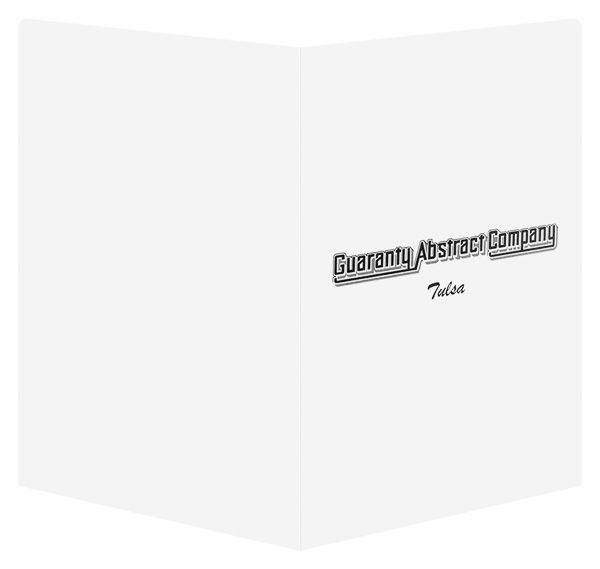 Guaranty Abstract Company (Back and Front Open View)