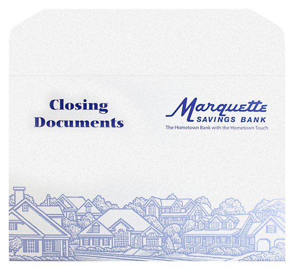 Marquette Savings Bank (Front and Back Flat View)