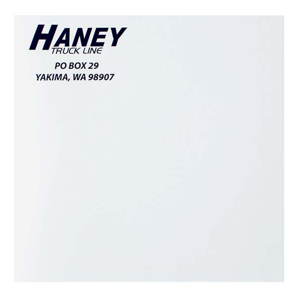 Haney Truck Line (Front View)