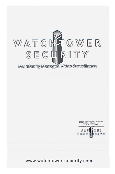Watchtower Security (Front and Back Flat View)