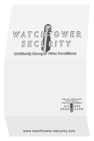 Watchtower Security (Front and Back Open View)