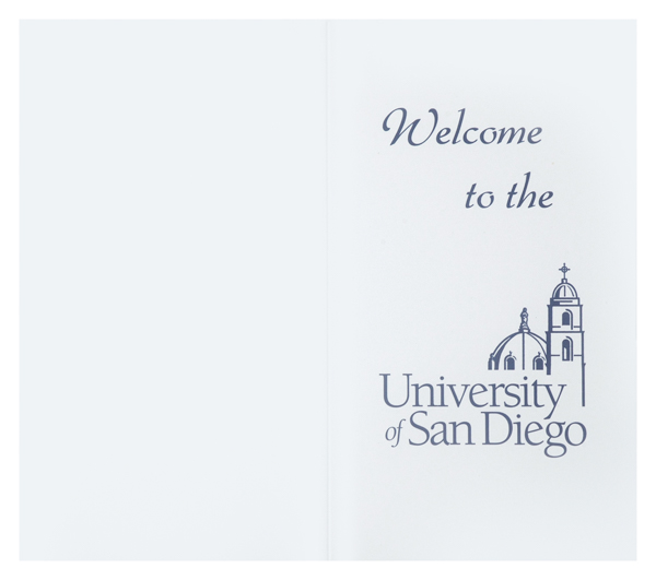 University of San Diego (Front and Back Flat View)