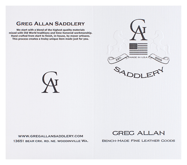 Greg Allan Saddlery (Front and Back Flat View)