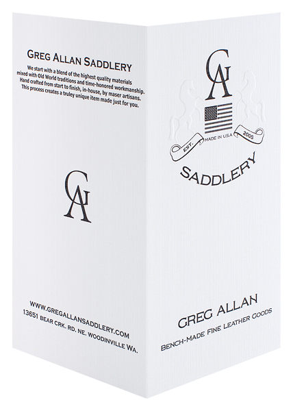 Greg Allan Saddlery (Front and Back Open View)