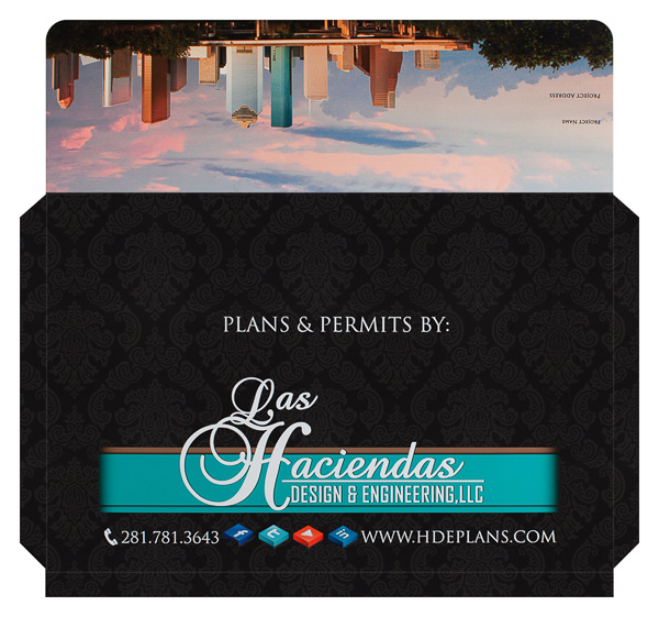 Las Haciendas Design & Engineering, LLC (Front and Back Flat View)