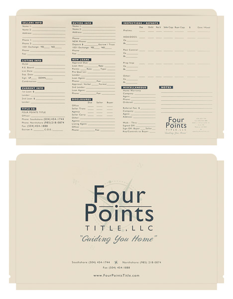 Four Points Title, LLC (Stack of Two Front and Back View)