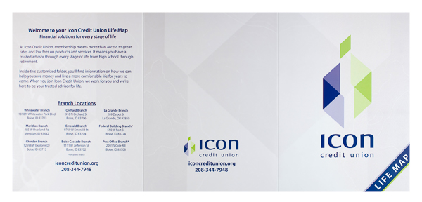 Icon Credit Union (Front and Back Flat View)