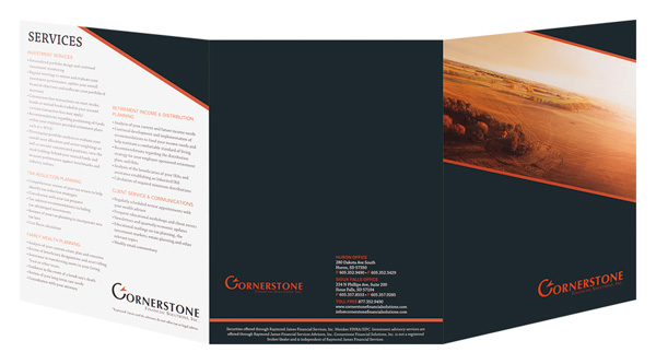 Cornerstone Financial Solutions, Inc. (Back and Front Open View)