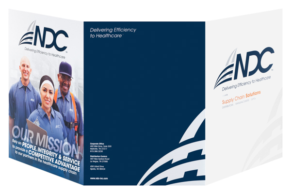 NDC, Inc. (Front and Back Open View)