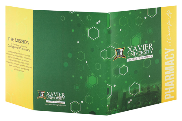 Xavier University College of Pharmacy (Back and Front Open View)