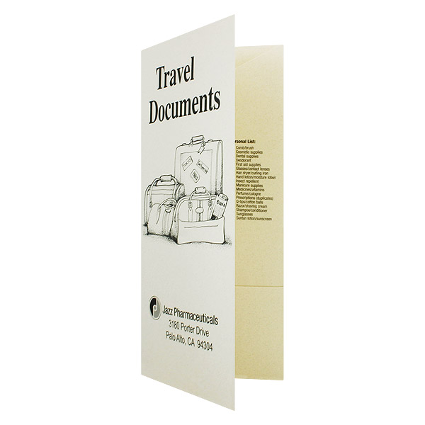 Jazz Pharmaceuticals Travel Documents (Front Open View)