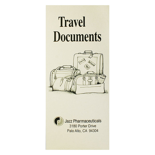Jazz Pharmaceuticals Travel Documents (Front View)