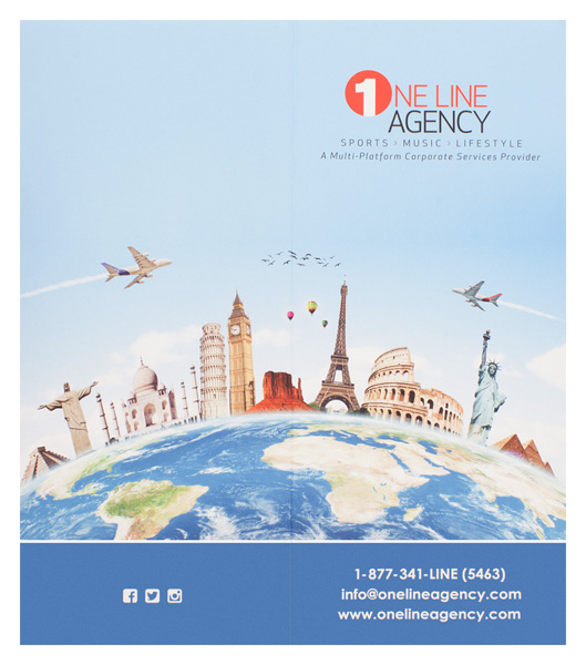 One Line Agency (Back Flat View)