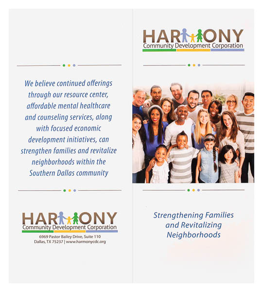 Harmony Community Development Corporation (Front and Back Flat View)