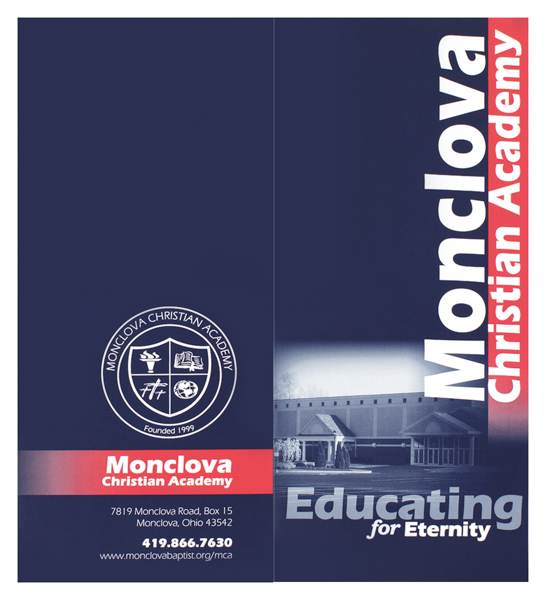 Monclova Christian Academy (Front and Back Flat View)