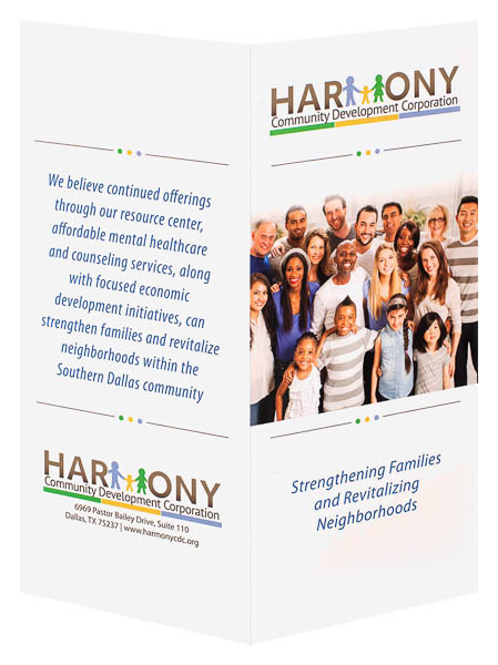 Harmony Community Development Corporation (Front and Back Open View)