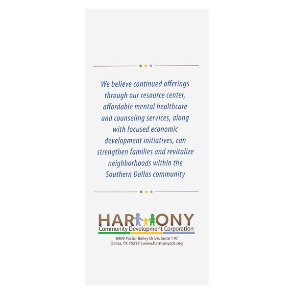 Harmony Community Development Corporation (Back Flat View)