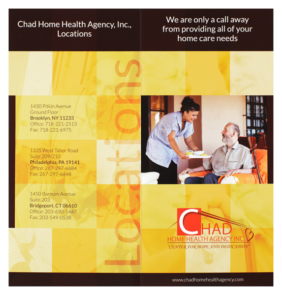 Chad Home Health Agency, Inc. (Front and Back Flat View)