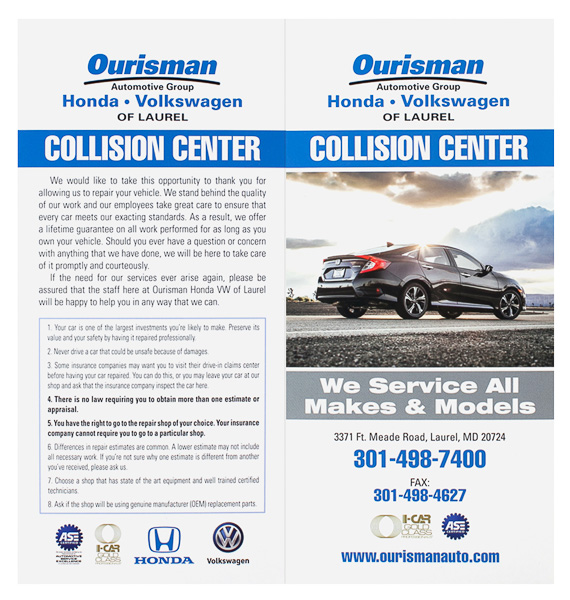 Ourisman Automotive Group (Front and Back Flat View)