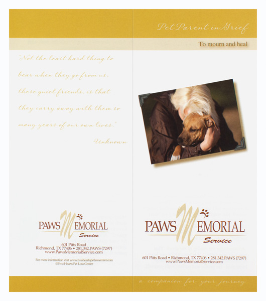 Paws Memorial Service (Custom One View)
