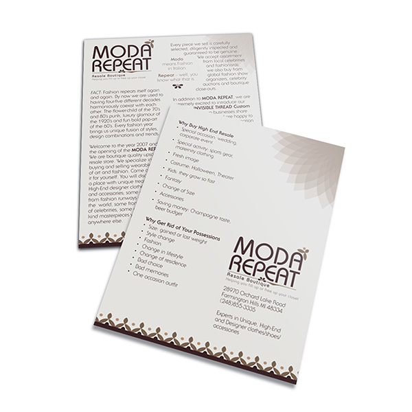 Moda Repeat Resale Boutique (Stack of Two Front and Back View)