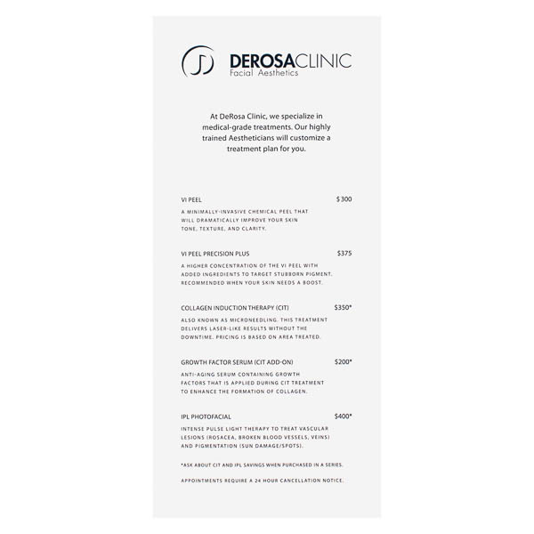 DeRosa Clinic Facial Aesthetics (Front View)