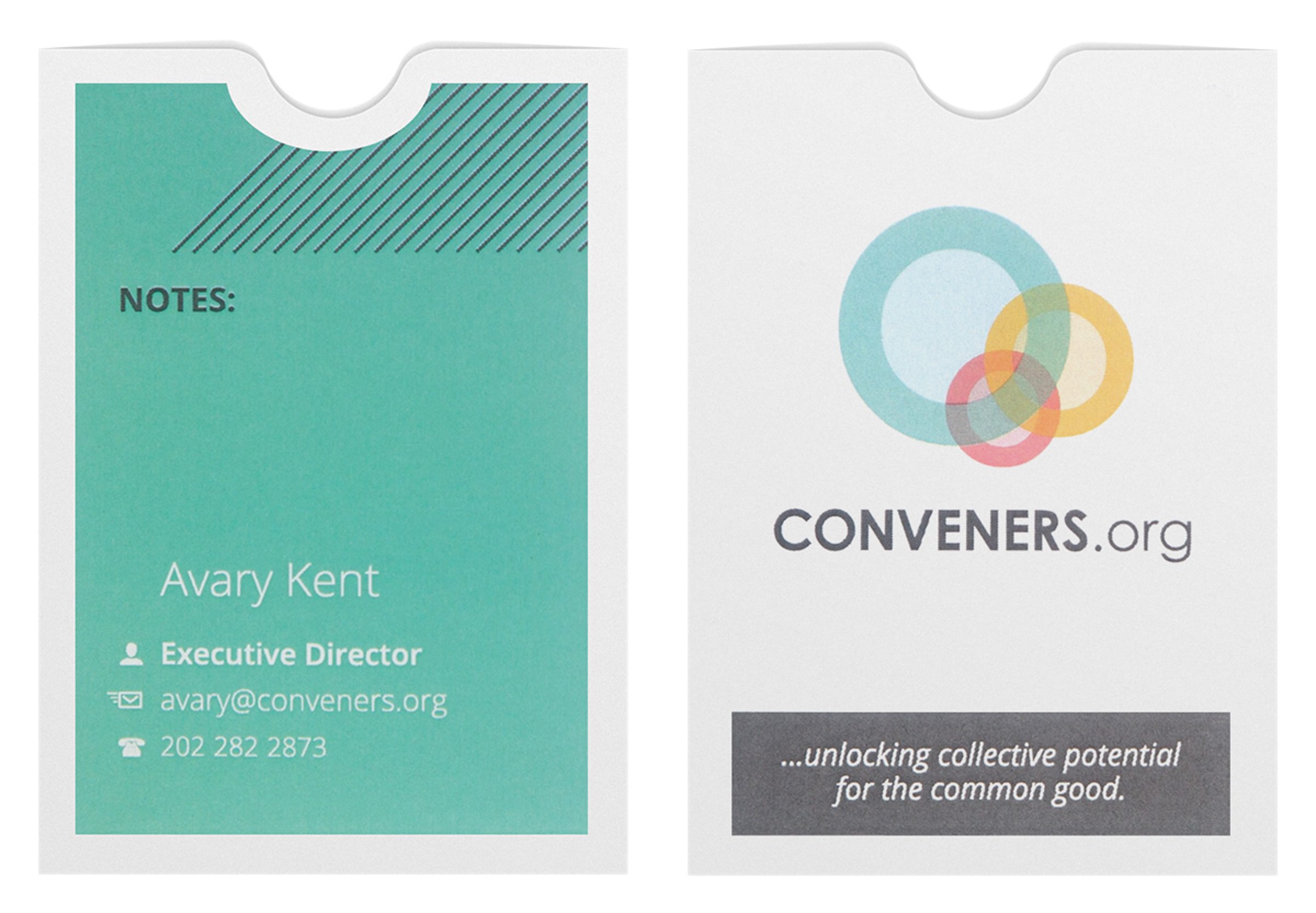 Conveners.org (Stack of Two Front and Back View)