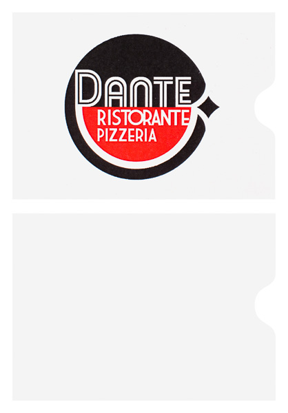 Dante Ristorante Pizzeria (Stack of Two Front and Back View)