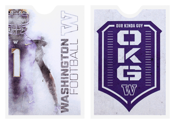 University of Washington Football (Stack of Two Front and Back View)