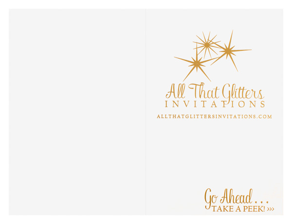 All That Glitters Invitations [WA IMAGE ISSUES] (Back Flat View)