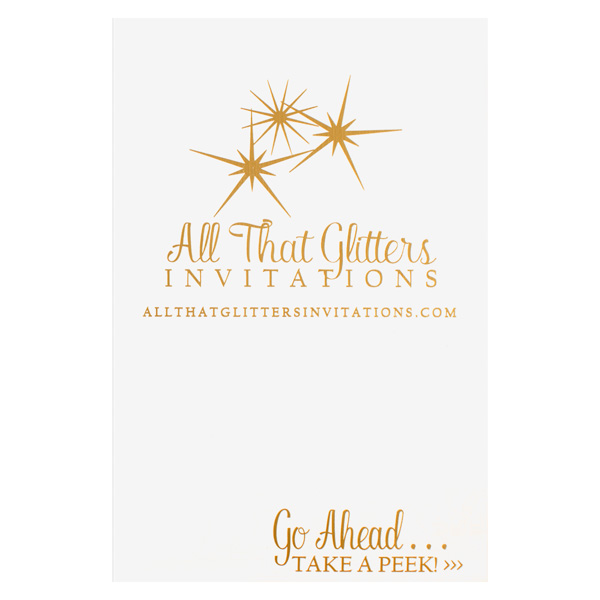 All That Glitters Invitations [WA IMAGE ISSUES] (Front View)