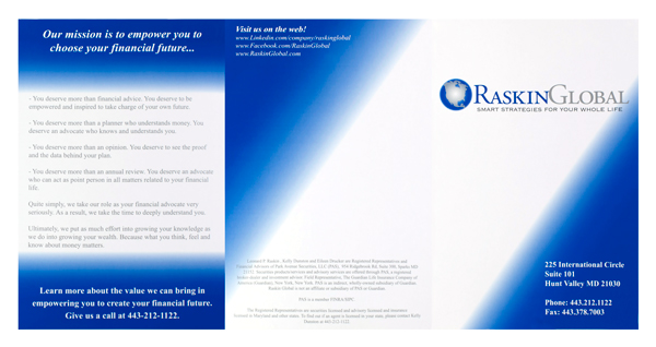 Raskin Global (Front and Back Flat View)