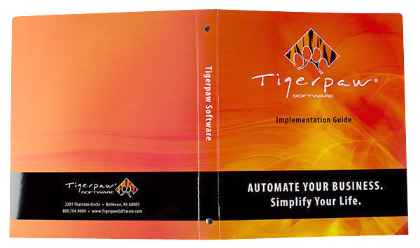 Tigerpaw Software (Front and Back Flat View)