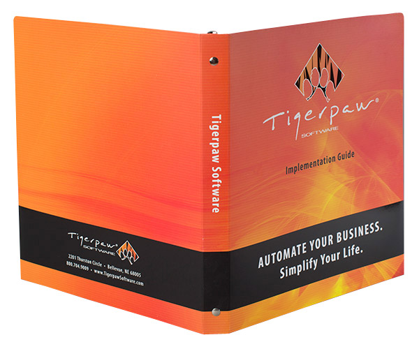 Tigerpaw Software (Back and Front Open View)