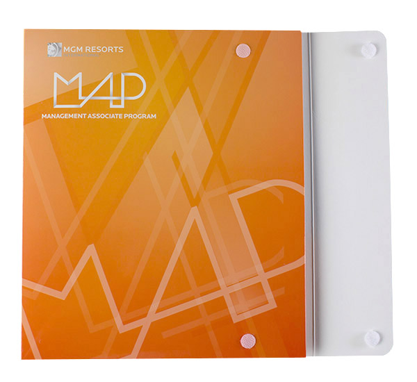 Custom Printed 2 Pocket Portfolio Flap 3 Ring Binder
