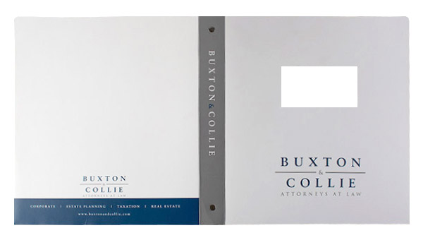 Buxton & Collie Attorneys at Law (Front and Back Flat View)