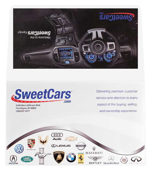 SweetCars, LLC (Front and Back Flat View)
