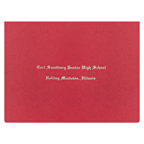 Promotional Certificate Folders for Carl Sandburg Junior High School