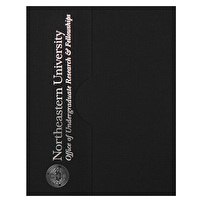 Printed Certificate Folders for Northeastern University